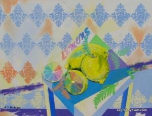 lemon damask