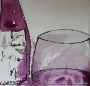 red wine saatchi