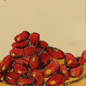 fruit, vegetables, red, food