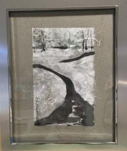 snow stream framed