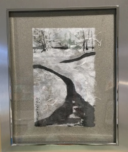 snow stream framed